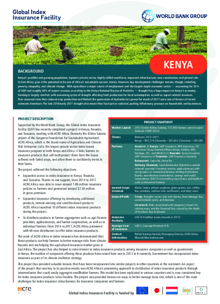 ACRE/Syngenta Foundation for Sustainable Agriculture - Kenya