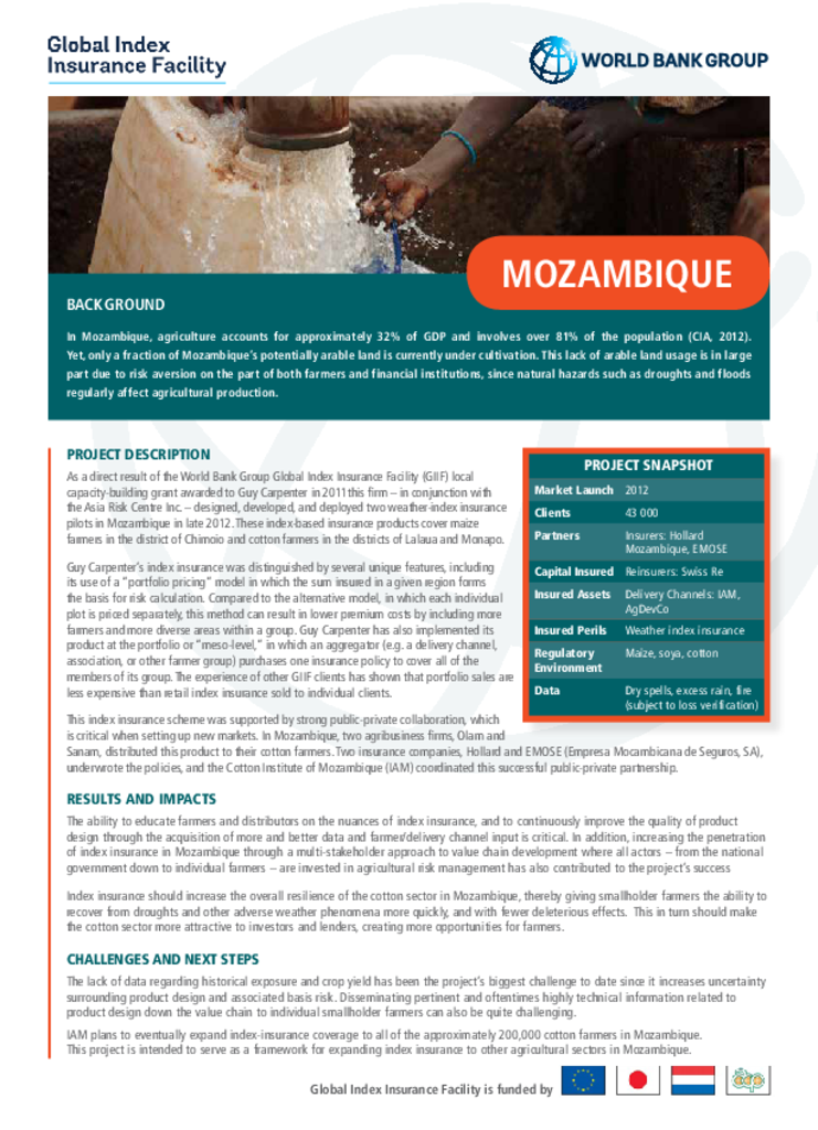 Country Profile: Mozambique