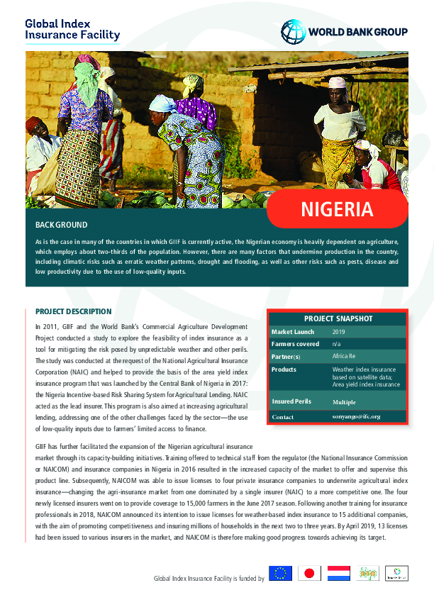 Key Publications | Index Insurance Forum