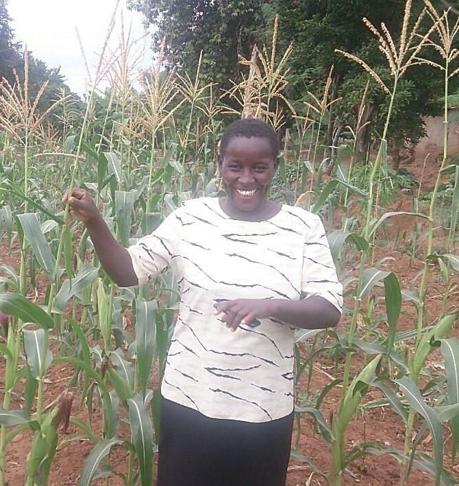 Jacinta at her maize farm / Cr: ACRE Africa